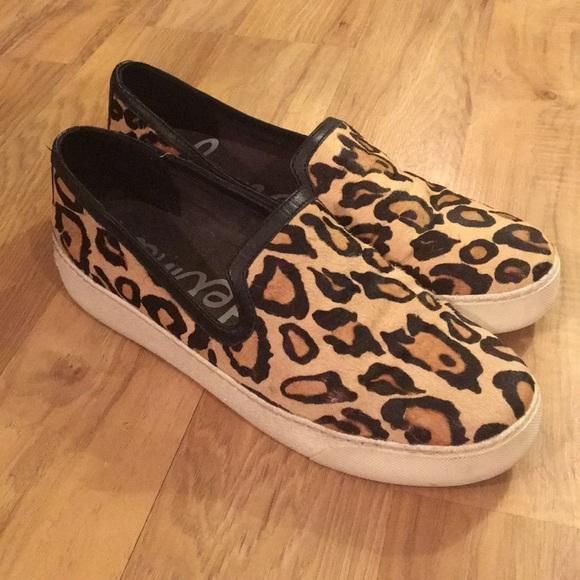 aec81f9de8fc3d Sam Edelman Becker Leopard Print Slip On Sneakers.  M 5a95f90e72ea881a1ca031a6